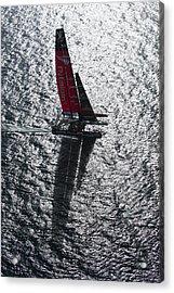 Shadow Sailing Acrylic Print by Chris Cameron