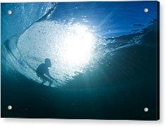 Shadow Surfer Acrylic Print by Sean Davey