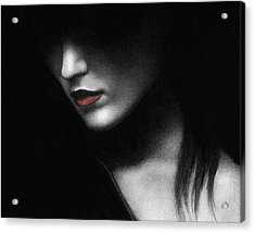 Acrylic Print featuring the painting Shadowed In My Mind by Pat Erickson