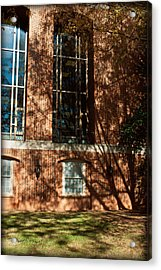 Shadows Across The Library - Davidson College Acrylic Print by Paulette B Wright