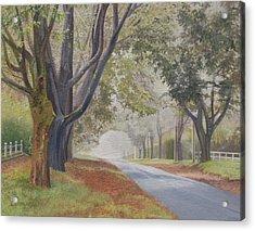 Shadow And Fog Down Beautiful Atlantic Avenue Acrylic Print