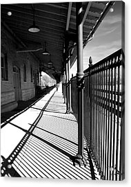 Shadows At The Station Acrylic Print by Denise Beverly