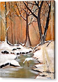 Shadows Beyond Winter Acrylic Print