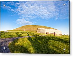 Shadows Fall On Newgrange In Ireland Acrylic Print by Mark E Tisdale