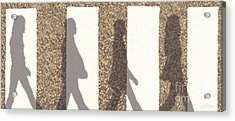 Shadows Of Abbey Road Acrylic Print by Cristophers Dream Artistry