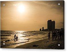 Shadows Of The Beach Acrylic Print