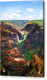 Shadows Of Waimea Canyon Acrylic Print