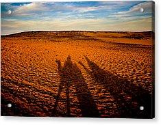 Shadows On The Sahara Acrylic Print by Mark E Tisdale