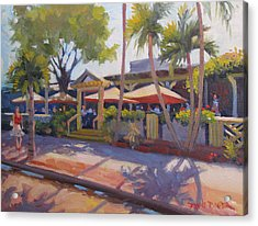 Shadows On Tommy Bahamas Acrylic Print by Dianne Panarelli Miller