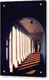 Shadows University Of Virginia Acrylic Print by Spyder Webb