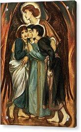 Shadrach, Meshach And Abednego Acrylic Print by Simeon Solomon