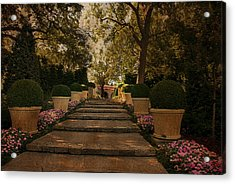 Shady Garden Walk Acrylic Print by Cindy Rubin