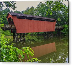Shaeffer Or Campbell Covered Bridge Acrylic Print by Jack R Perry