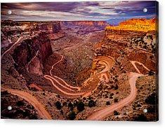 Shafer Trail Horizontal Acrylic Print