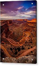 Shafer Trail Vertical Acrylic Print