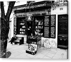 Shakespeare And Company Boookstore In Paris France Acrylic Print