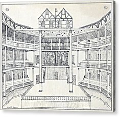 Shakespeares Globe Theatre Acrylic Print by Folger Shakespeare Library