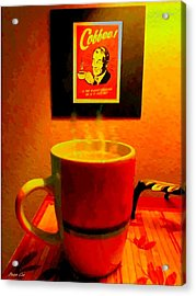 Shakey Planet Or Good Coffee Acrylic Print by Buzz Coe