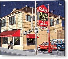 Shakey's Pizza Acrylic Print by Paul Guyer