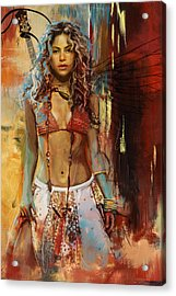 Shakira  Acrylic Print by Corporate Art Task Force