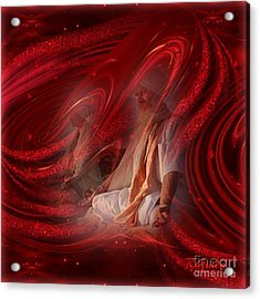 Acrylic Print featuring the digital art Shakti - Spirituality Art By Giada Rossi by Giada Rossi
