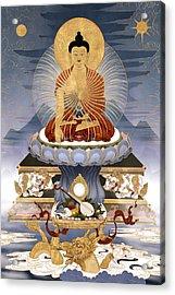 Shakyamuni Buddha - The Dragons Story Acrylic Print by Ben Christian