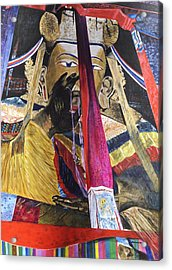 Acrylic Print featuring the painting Shakyamuni by Dottie Branchreeves