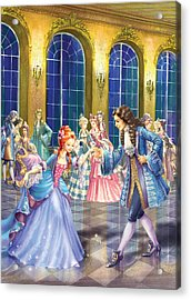 Shall We Dance Acrylic Print by Zorina Baldescu