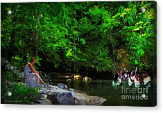 Shall We Gather At The River Acrylic Print by Lianne Schneider