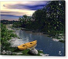 Shallow River Acrylic Print by John Pangia