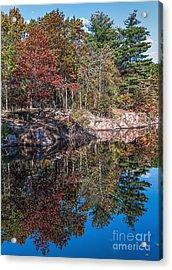 Shambeau Park Fall Reflection Acrylic Print by Trey Foerster