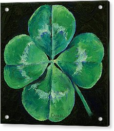 Shamrock Acrylic Print by Michael Creese