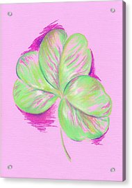 Shamrock Pink Acrylic Print by MM Anderson
