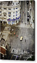 Shanghai China Big City Urban Scene From Above Acrylic Print by Jani Bryson