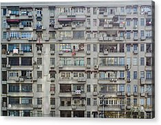 Shanghai Homes Acrylic Print by Andre Distel