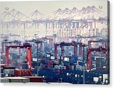 Shanghai Yangshan Deep-water Port, China Acrylic Print