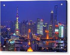 Shanghai's Skyline Acrylic Print by Lars Ruecker