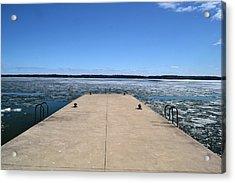 Shanty Bay Pier 2  Acrylic Print by Lyle Crump