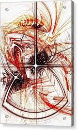 Shapes And Symbols Acrylic Print by Anastasiya Malakhova