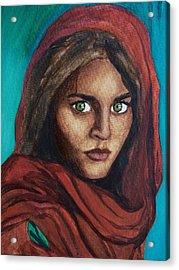 Sharbat Gula Acrylic Print by Amber Stanford