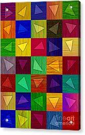 Shards Acrylic Print by David K Small