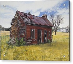 Sharecroppers Shack Acrylic Print by Peter Muzyka