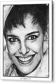 Shari Belafonte In 1985 Acrylic Print by J McCombie