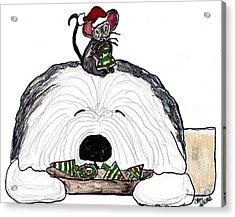 Sharing Christmas Cookies Acrylic Print