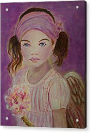 Sharissa Little Angel Of New Beginnings Acrylic Print by The Art With A Heart By Charlotte Phillips