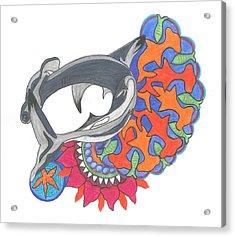 Shark Art Acrylic Print