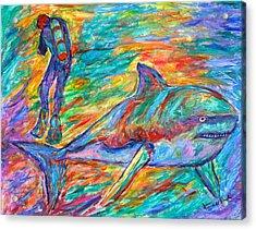 Shark Beauty Acrylic Print by Kendall Kessler