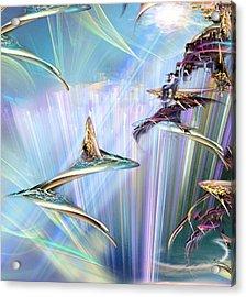 Shark Acrylic Print by Phil Sadler