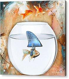 Shark Tale Acrylic Print by Marvin Blaine