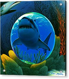Shark World  Acrylic Print by Robin Moline